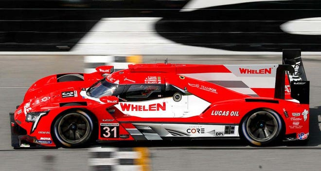The Whelen Racing Cadillac DPi-V.R prototype won the Motul 100 at the Daytona Roar Before the 24. The win puts the Caddy on pole for the Rolex 24 on January 30.