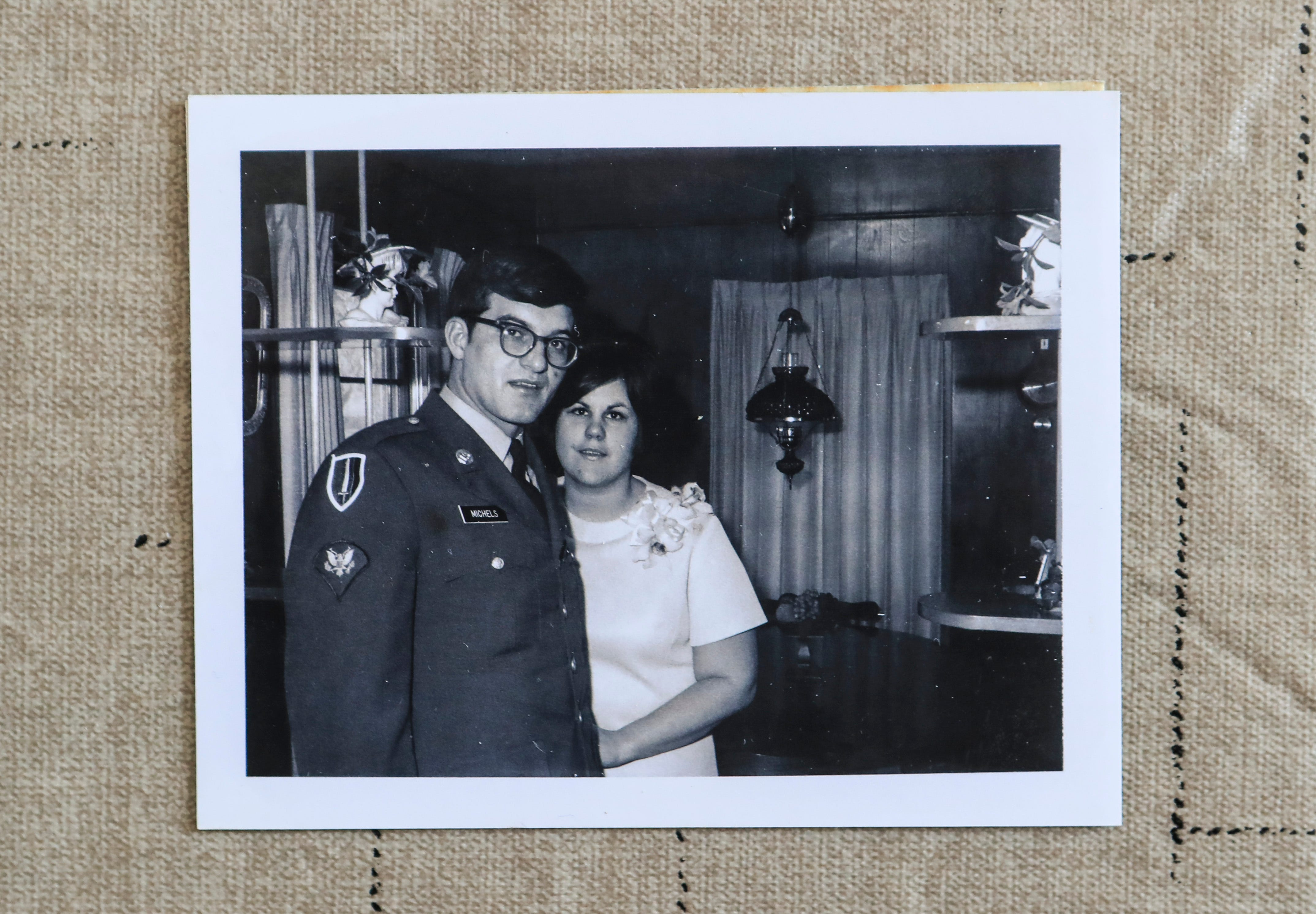 The wedding snapshots may have faded in color but not the love for Pat and Roger Michels of Milltown, Indiana, who have been married for 50 years. He was an Army soldier stationed in Vietnam who wrote a letter to Pat on the urging -- or dare as he would laughing say -- from a friend. It was a simple ceremony but their love has grown from that day. Feb. 3, 2021