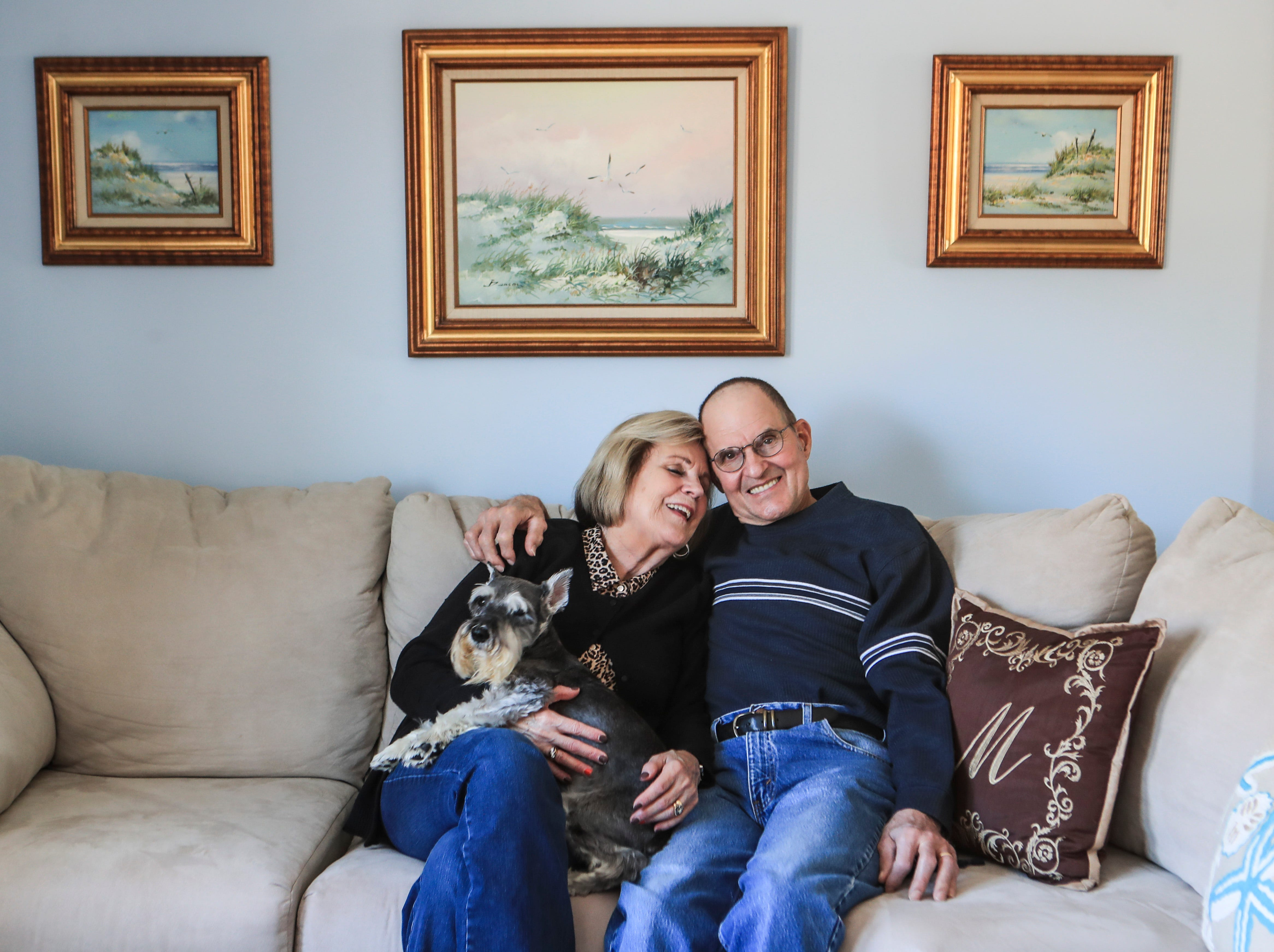 """Pat and Roger Michels have been married for 50 years. She met him through a letter while Roger was stationed in Vietnam in 1970. Roger wrote to her on the urging of an Army buddy. She wasn't looking for love but wrote him back as well to help him while he was in the Vietnam War. """"It wasn't much longer after I sentthat first letter that I started receiving letters and pictures from Roger three or four times a month,"""" Pat said. """"And I started writing back even faster."""" The Milltown, Ind. couple have one adult son who is married and lives in Evansville and a schnauzer named Baxter. Feb. 3, 2021"""