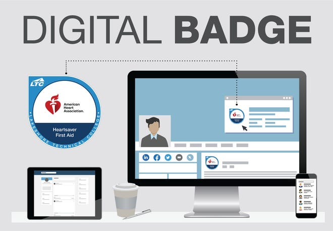 Lakeshore Technical College in Cleveland, Wisconsin, is offering courses for digital badges.