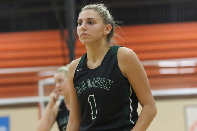 Madison's Kari Eckenwiler earned an athlete of the week nomination after scoring 15 points in a 39-29 win over Mansfield Senior.