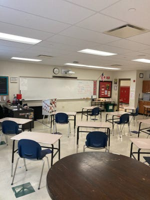 The room pictured is Jackie Strasser's classroom at Harding High School. The intervention specialist said attendence has become an issue at the school since the pandemic.