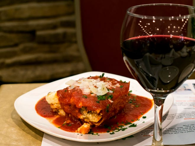 Casa Capri, 2129 Birch Road in Kenosha, is among the 50 restaurants and other vendors taking part in Kenosha Restaurant Week from Feb. 20 to 28. Lasagna is one of the restaurant's options for dinner for two, carryout, delivery or dine in.