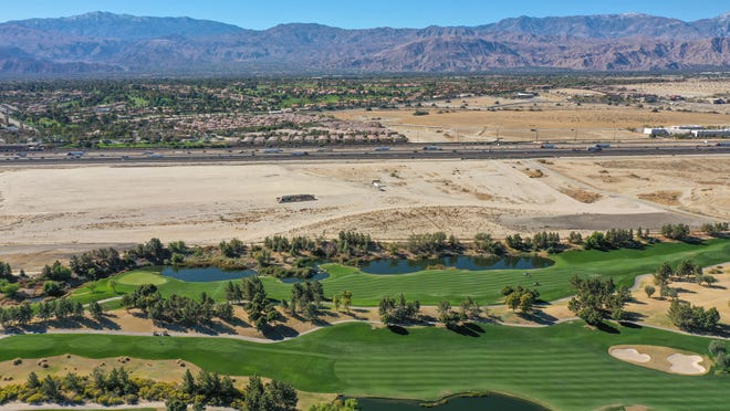 A new Coachella Valley arena could be built on the empty parcel of land in between the Classic Club and the I-10 in Palm Desert.