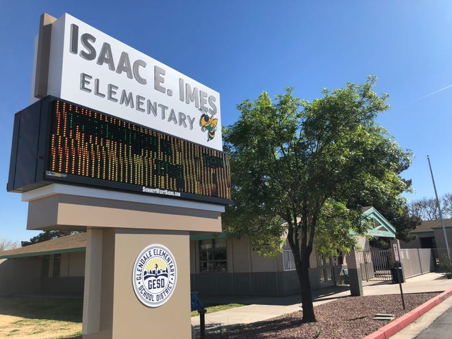 Isaac E. Imes Elementary School, built in 1942, could permanently close as part of a Glendale Elementary School District proposal to close five schools in response to declining enrollment.
