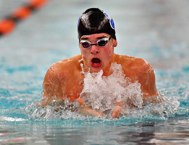 Dallastown High School's Riley Thomas is enjoying a stellar senior season in the pool for the Wildcats.