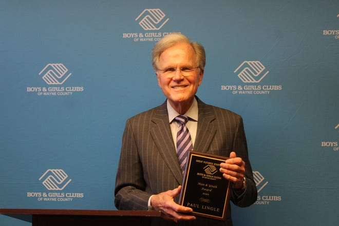 Paul Lingle received the Man and Youth Award, the highest award presented by the Boys & Girls Clubs of Wayne County.