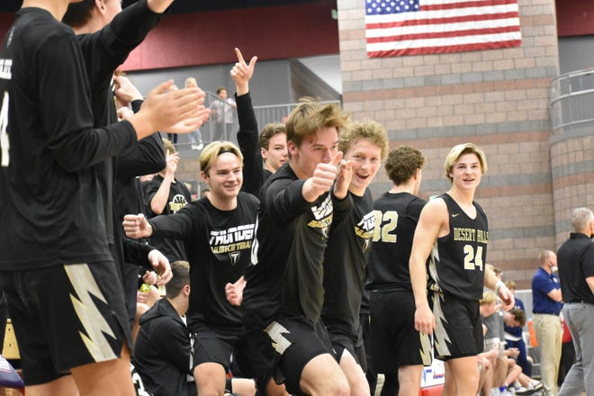 Crimson Cliffs stunned Desert Hills 69-67 on a buzzer-beating 3-pointer by Trei Rockhill as time expired.