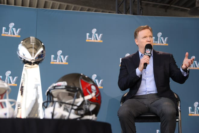 NFL commissioner Roger Goodell discussed the state of the league on Thursday.