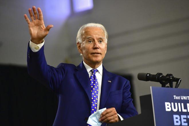 Then-presidential candidate Joe Biden on July 28, 2020, in Wilmington, Delaware.