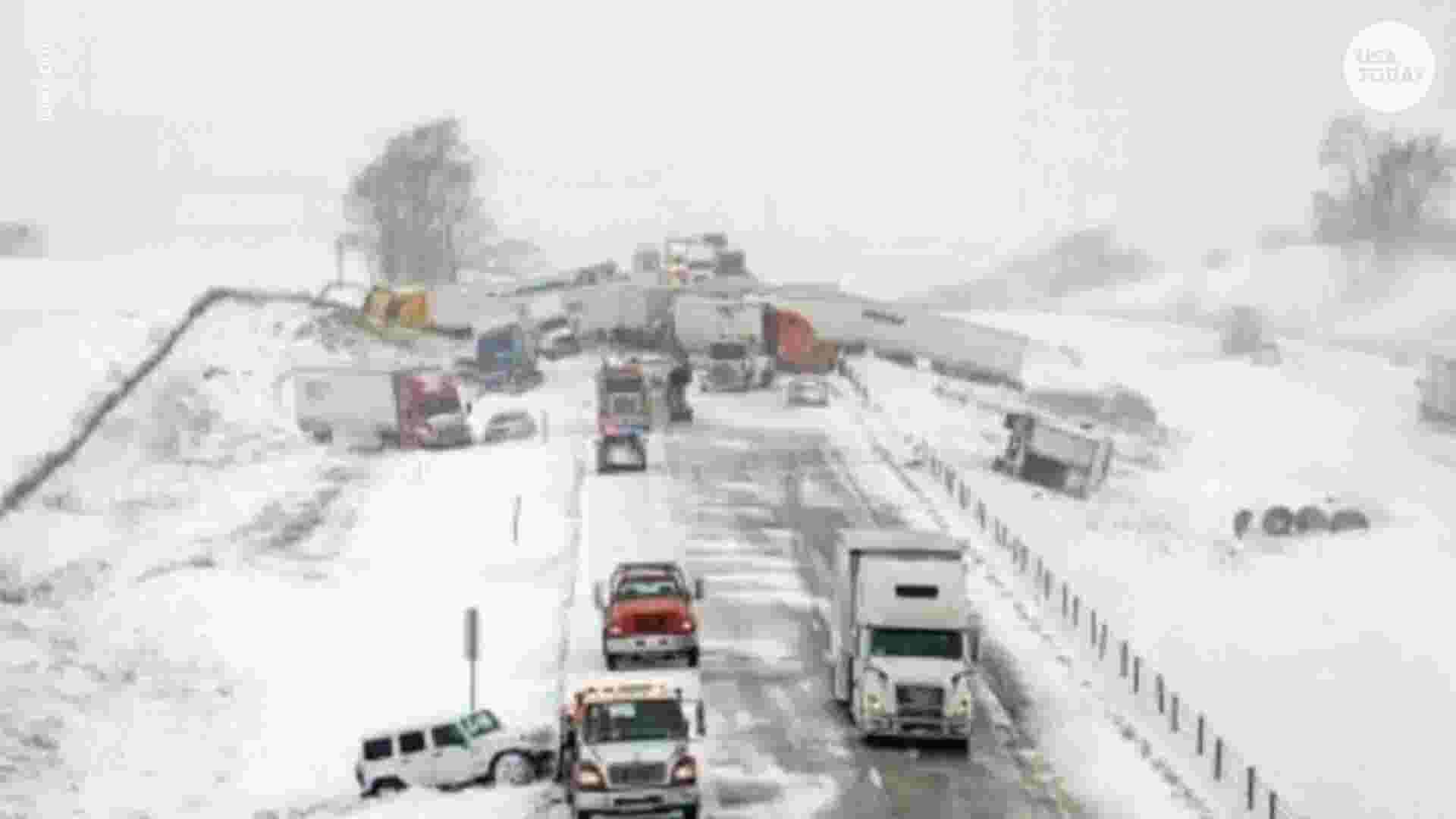 Winter weather causes 'massive' 40-car pileup in Iowa thumbnail