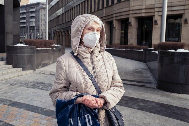 Tatiana Ivanova, at Beloruskaya Square, in Moscow on Feb. 4, 2021.