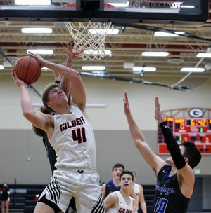 Easton Johnson had 12 points, eight rebounds and three blocks in Gilbert's 58-50 victory over Bondurant-Farrar Friday. He and Justin Terry have formed a talented tandem in the post for the Tigers this season.