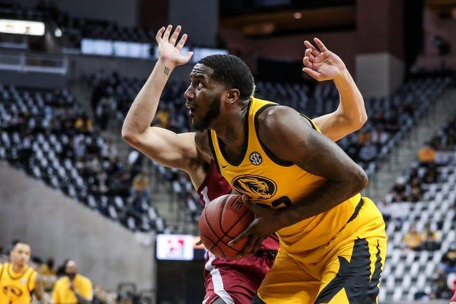 Missouri forward Jeremiah Tilmon (23) makes a move toward the basket during a game against Alabama Feb. 6 at Mizzou Arena.