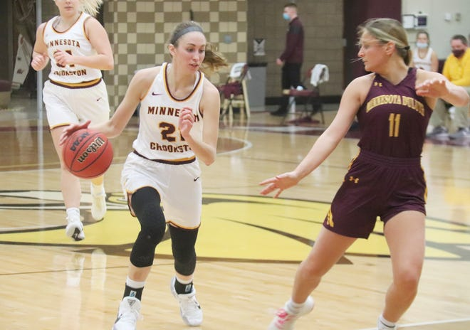 Jes Mertens led the Minnesota Crookston women's basketball team in scoring as a freshman, and was named to the NSIC North All-Defensive and All-Freshman teams.