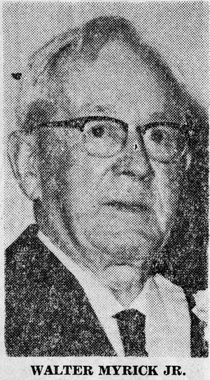 Walter Myrick Jr. first President of the Rotary Club of Lubbock.