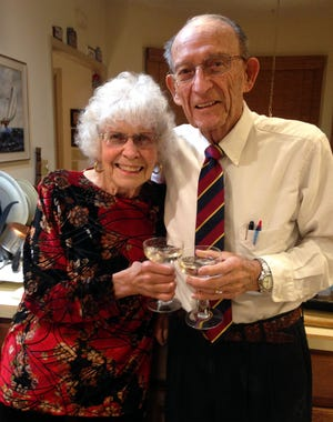 Lillian and Don Townsend of Hamilton pose Jan. 29. The couple celebrated their 70th wedding anniversary that day.