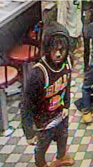 Colonial Heights Police released this surveillance-video image of one of the men believed to have been involved in the shooting outside Waffle House early Saturday, Feb. 6, 2021.