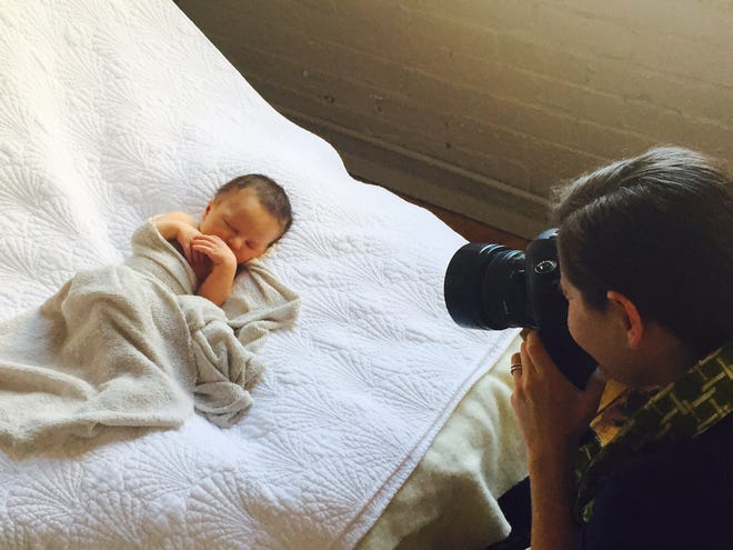 Lisa Gendron of Agroterra Photography photographs Vanessa Lillie's newborn son six years ago.