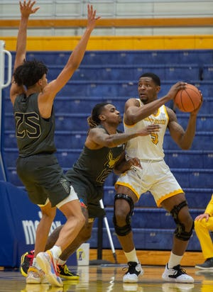 Kent State senior forward Danny Pippen earned First Team All-MAC honors after ranking among the league leaders in scoring, rebounding and blocked shots during the 2020-21 regular season.