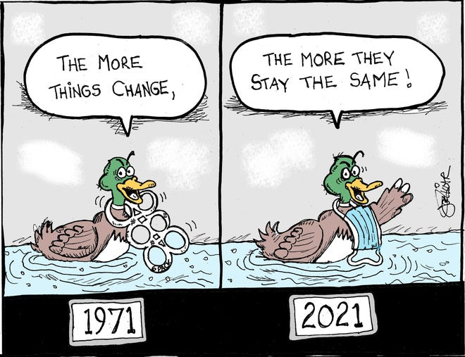 Liccar cartoon: The more things change