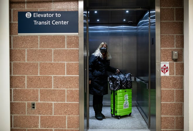 "Travel agent Erin Silverman of Bloomfield Hills, Mich., took an Amtrak train to and from Denver. ""They were very serious about having people wear masks,"" she says."