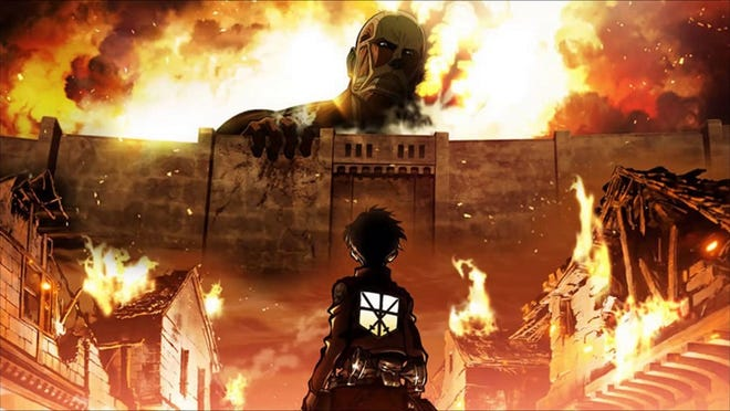 """Attack on Titan"" can be streamed on Hulu."