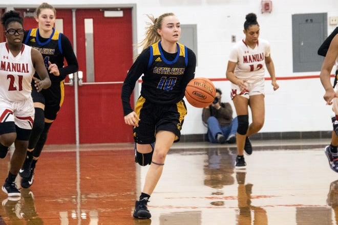 Bethlehem guard Amelia Hodges ran the offense against Manual on Saturday leading her #5 ranked team to a 66-61 victory. 2/6/21