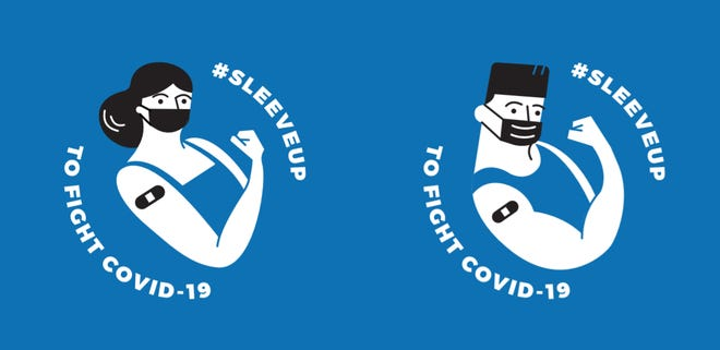 The Centers for Disease Control and Prevention offers templates for at least four different stickers in its toolkit for organizations serving communities affected by COVID-19.