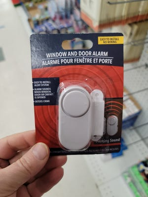 """While it's not """"smart home"""" tech, it's certainly smart to pay just $1 for a 90-decibel alarm (with batteries) to mount to a home's side- or back-door, or windowsill, to serve as a deterrent to a would-be thief."""