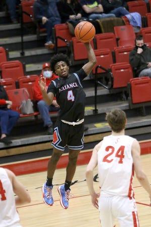 Alliance freshman Ramhir Hawkins converted a key three-point play in the Aviators' win at Salem on Saturday.