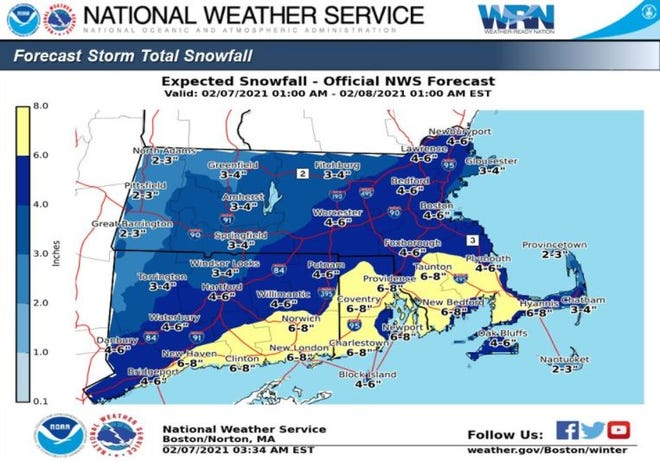 Sunday storm on Cape Cod will bring heavy snow and strong gusts of wind