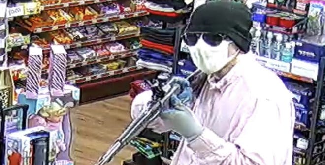 This man is accused of robbing the GH Mart in Asheboro.