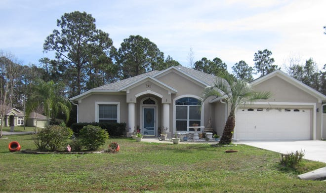 This Ruth Drive home has four bedrooms and two baths in 2,618 square feet of living space. Built in 2001, it also has a Florida room, a patio, skylights and a backyard storage building. It sold recently for $263,000.