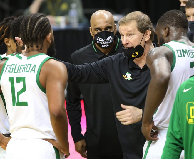 Oregon coach Dana Altman has the Ducks in third place in the Pac-12 Conference standings entering Thursday's game against fourth-place Colorado.