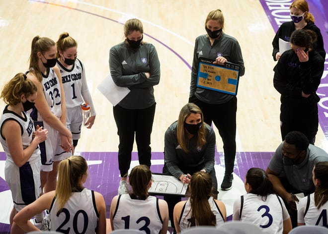 After Sunday's cancellation, the Holy Cross women's basketball team's next game is Wednesday at Boston University.