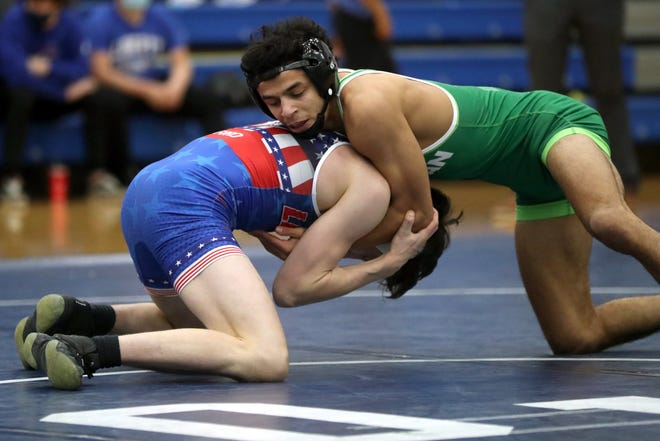 Dublin Coffman's Ismael Ayoub went 3-0 in the Division I state team tournament Feb. 6 at Lakewood St. Edward. The Shamrocks finished third as a team.
