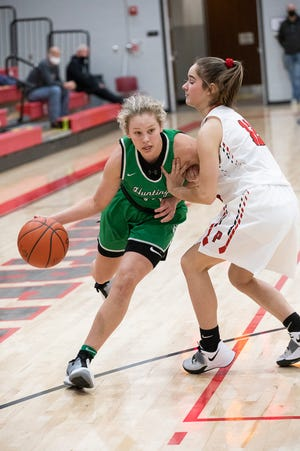 Huntington junior Allison Basye, who is averaging 28 points and 12 rebounds per game, was named the Scioto Valley Conference Player of the Year on Wednesday.