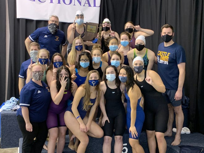 The Castle girls swimming and diving team won the sectional championship on Saturday