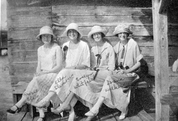 Reunion of Florida State University's Class of 1919 (Taken 1924).
