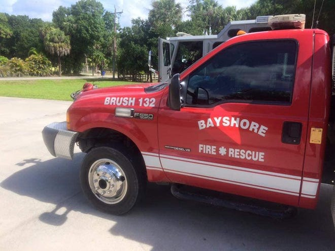 Sometime between between 10 and 10:15 a.m. Sunday, Bayshore Fire Rescue's brush truck 132 was stolen from the station while crews were on a call. An alert to find the truck has been issued.