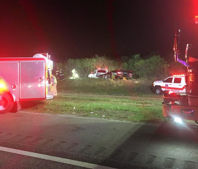 A 19-year-old Estero woman was killed shortly after midnight Sunday after her car collided with a boat that had become dislodged from a trailer in an earlier crash on I-75.