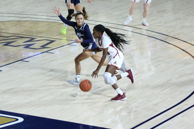The New Mexico State women's team lost at Cal Baptist on Saturday.