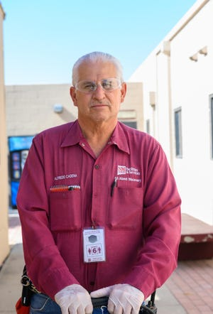 Alfredo Cadena, lead custodial worker for New Mexico State University Facilities and Services, retired Feb. 1, 2021, after a 45-year career.