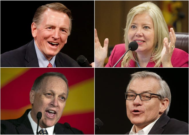 Clockwise from top left are Arizona House Republicans Paul Gosar, Debbie Lesko, Andy Biggs and David Schweikert.