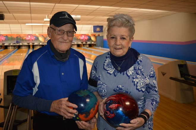 Dick Morelock, 92 and Mary Morelock, 88,  have been bowling together for more than 60 years. They are from Spring Grove.