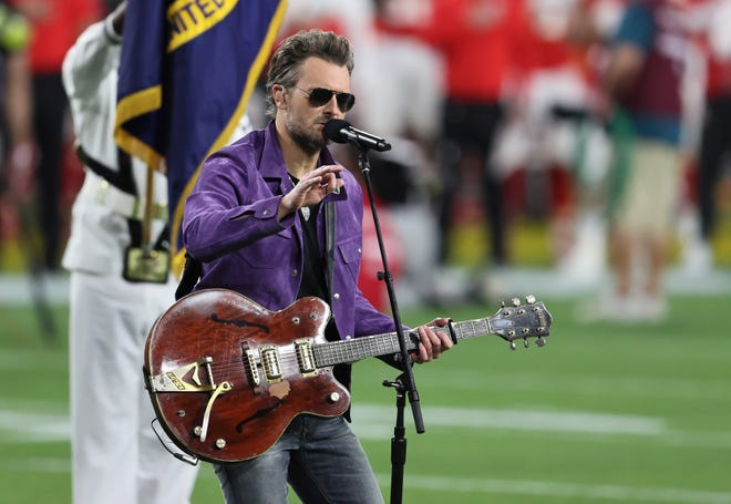 Country star Eric Church, seen here performing at this year's Super Bowl at Raymond James Stadium, will return to Tampa next March for a concert at Amalie Arena.
