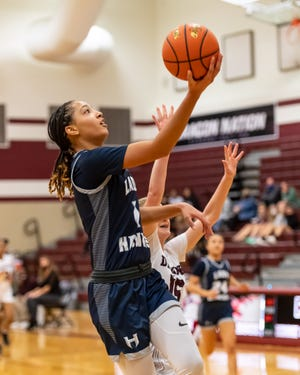 Zoe Nelson and the Hendrickson girls basketball team completed a perfect run through District 18-5A last week. The Hawks will open the playoffs later this week against either Crockett or Lockhart.