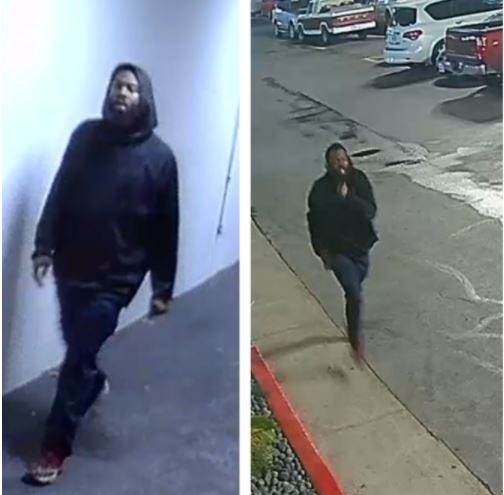 Austin police on Monday said the person pictured above is believed to have shot and killed a 22-year-old man in North Austin during the early hours of Saturday.