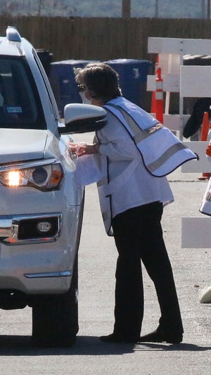 More than 600 COVID vaccinations were dispensed at a drive-through clinic last Wednesday at Gordon Wood Stadium. A 400-dose clinic has been scheduled for Wednesday at the Depot Civic and Cultural Center.